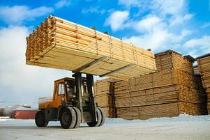 lumber construction truck
