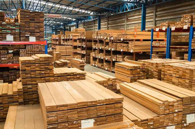Spotlight on lumber.